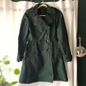 VTG Banana Republic Green Trench Coat